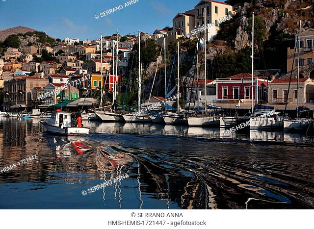 Greece, Dodecanese, Simi island, Harbour