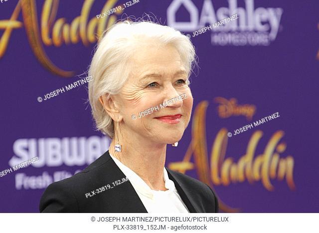 "Helen Mirren at The World Premiere of Disney's """"Aladdin"""" held at El Capitan Theatre, Hollywood, CA, May 21, 2019. Photo Credit: Joseph Martinez / PictureLux"