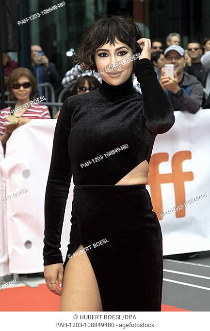 Jackie Cruz attends the premiere of 'This Changes Everything' during the 43rd Toronto International Film Festival, tiff, at Roy Thomson Hall in Toronto, Canada