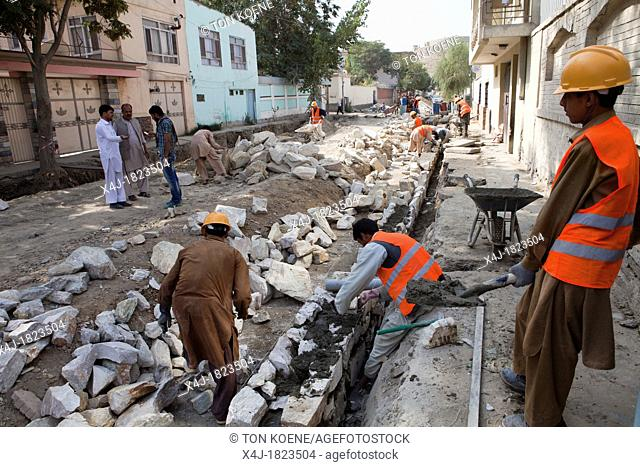 repair on streets in kabul