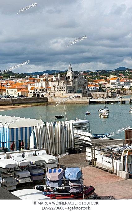 View at coastal resort Cascais, District Lisbon, Portugal, Europe