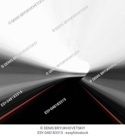 Abstract road tunnel. 3d rendering