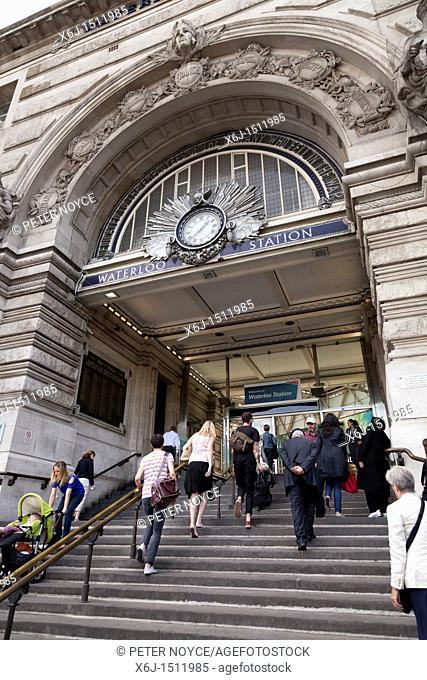 Entrance to Waterloo station London