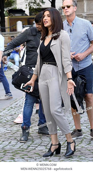 Priyanka Chopra on her first day of filming the TV series 'Quantico' in New York City Featuring: Priyanka Chopra Where: New York, New York