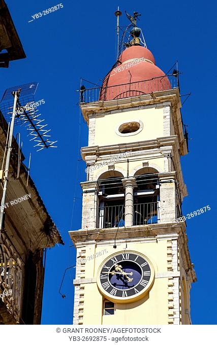 The Bell Tower Of Saint Spyridon Church, Corfu Old Town, Corfu, Greece