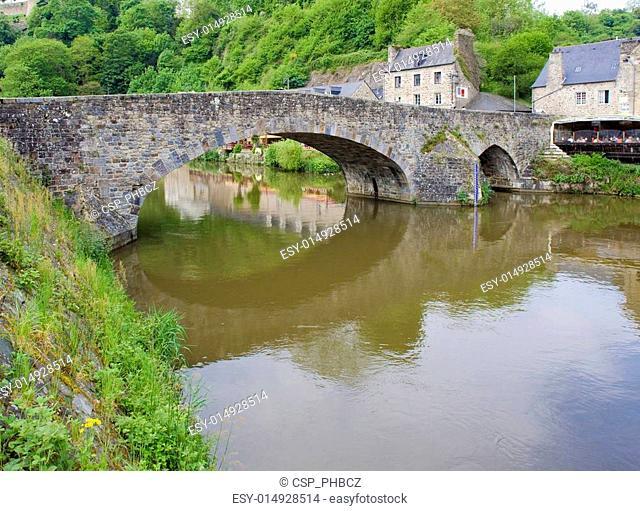 gothic bridge, Dinan, Brittany, France