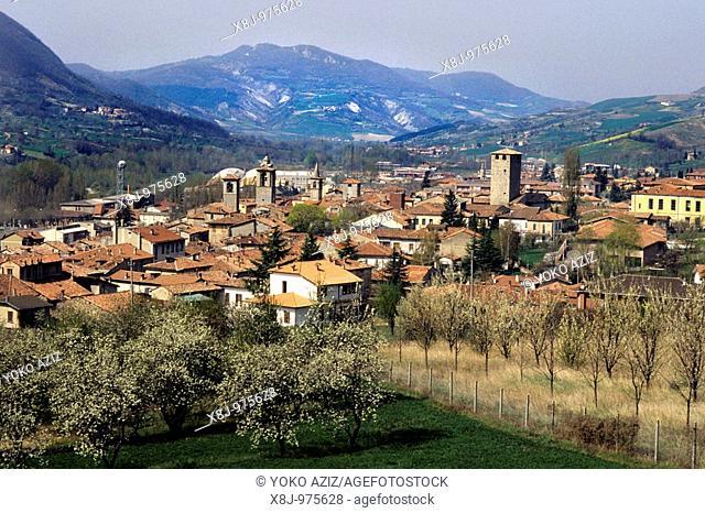 View of Varzi Pavia, Italy