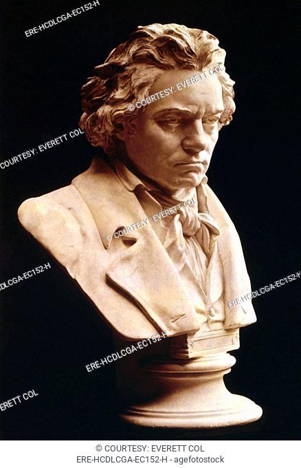 Ludwig van Beethoven 1770-1827, German classical composer, circa 1810s
