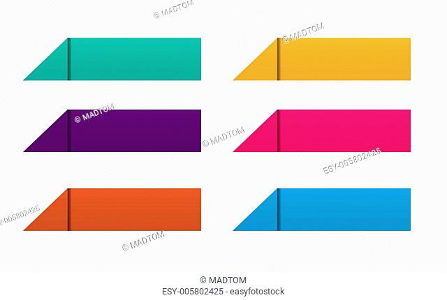 color origami button set