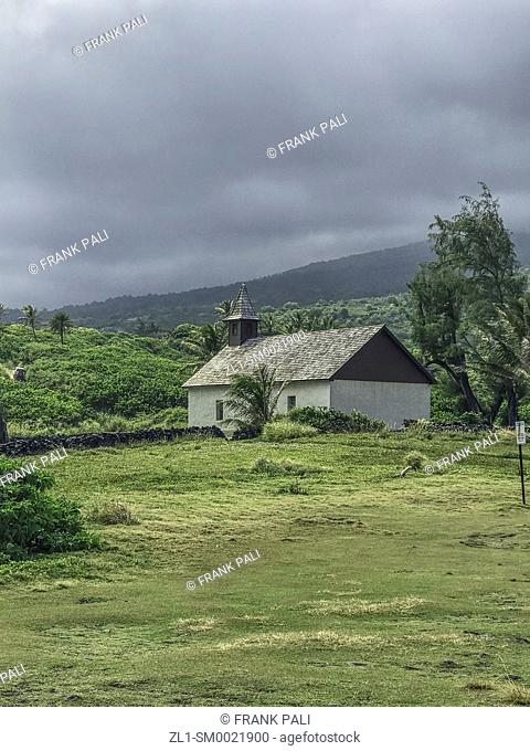 Historical home in the rainforest and steep mountains, Iao Valley State Park, Maui, Hawaii