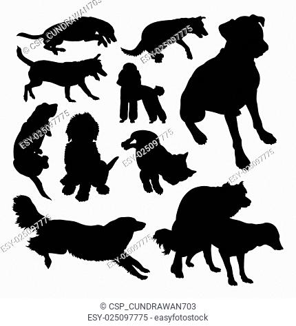 Dog pet animal silhouette 10