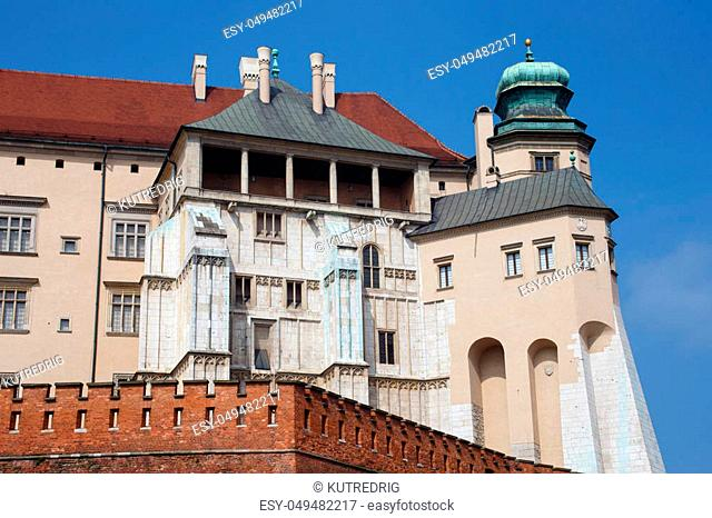The oldest part of the Wawel Castle in Krakow. Poland