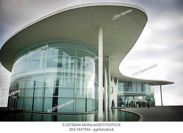 Fira de Barcelona (Barcelona Trade Fair) new building by architect Toyo Ito. Gran Via, Barcelona, Catalonia, Spain