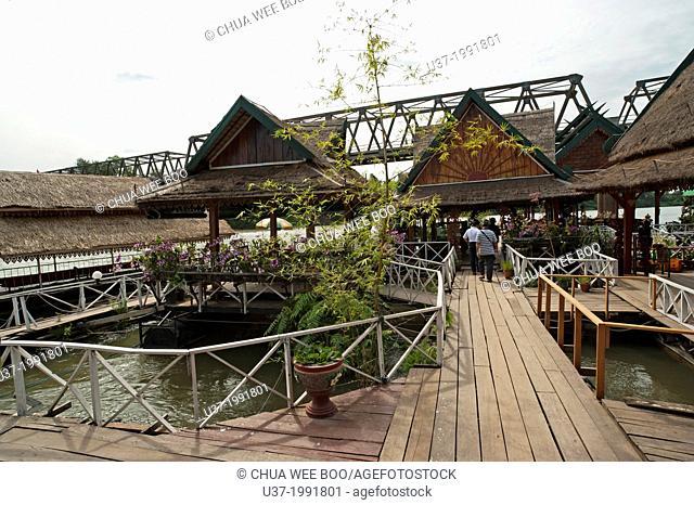 A restaurant in Vientiane, Laos