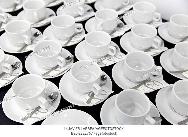 Coffee cups. Catering service. Seminar. Office building. Zamudio. Bizkaia. Basque Country. Spain