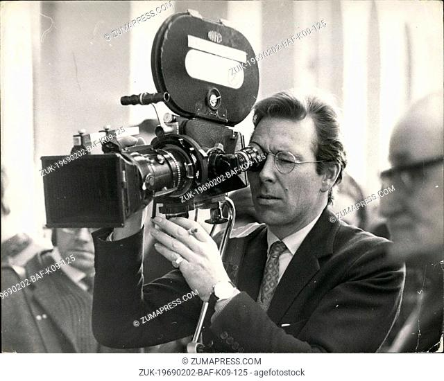 Feb. 02, 1969 - Lord Snowdon at Crufts Dog Show: Lord Snowdon was at Crufts Dog Show today for the B.B.C., who are producing a film about people and their pets
