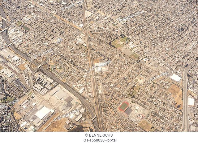 Aerial view of cityscape, San Francisco, California, USA