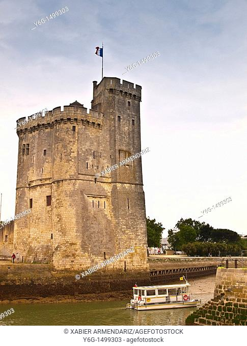 Harbour defense and old prison at the entrance to the port of La Rochelle, Charente maritime, France, Europe