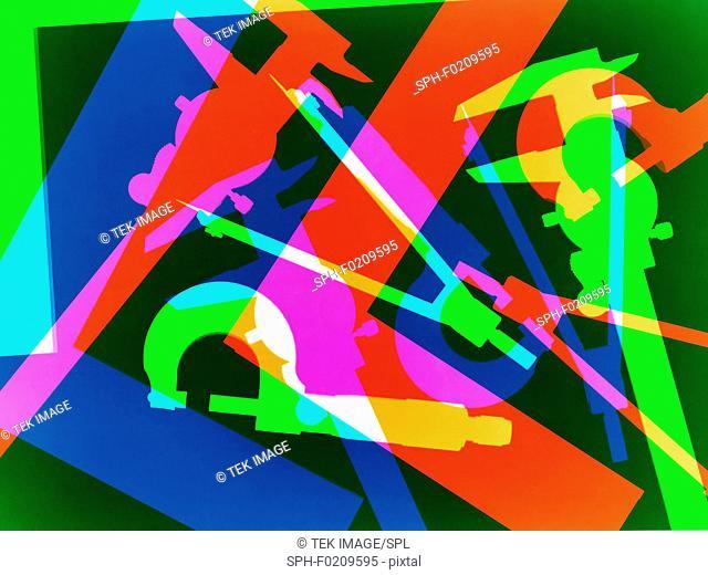 Measuring instruments, conceptual image
