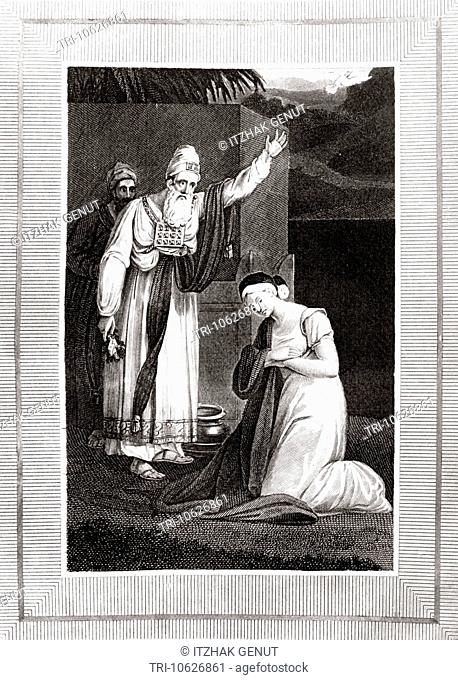 Illustration Of The Ritual Of Sotah For Women Suspected Of Adultery The Leper Cleansed