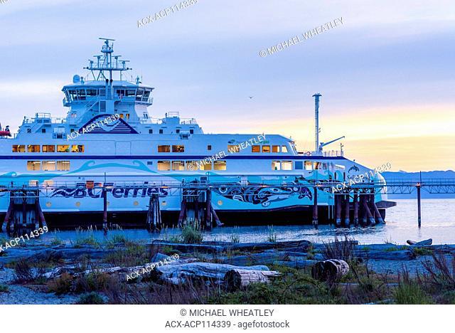 Salish Orca, Natural Gas powered BC Ferry at Comox, Vancouver Island, British Columbia, Canada