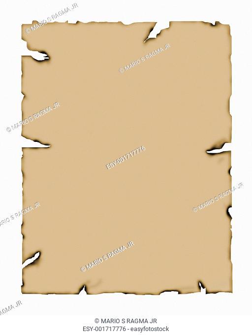 Burnt edges paper