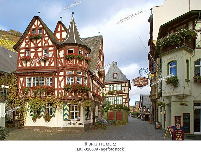 Old Town at Bacharach, Cultural Heritage of the World: Oberes Mittelrheintal since 2002, Mittelrhein, Rhineland-Palatinate, Germany, Europe