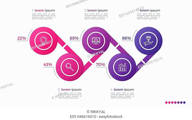 Timeline vector infographic design with ellipses 5 steps