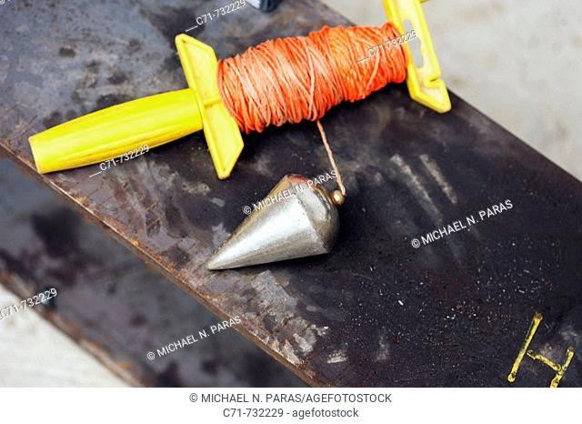 Carpenter Plumb bob with roll of string