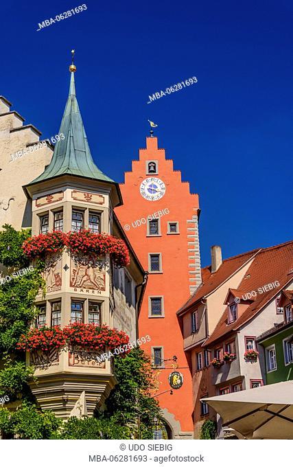 Germany, Baden-Württemberg, Lake Constance, Meersburg, Oberstadt, Market Square with Obertor