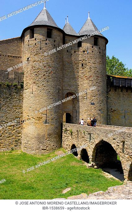 Château Comtal, 12th century, La Cité, medieval fortified town, Carcassonne, Aude, Languedoc-Roussillon, France, Europe
