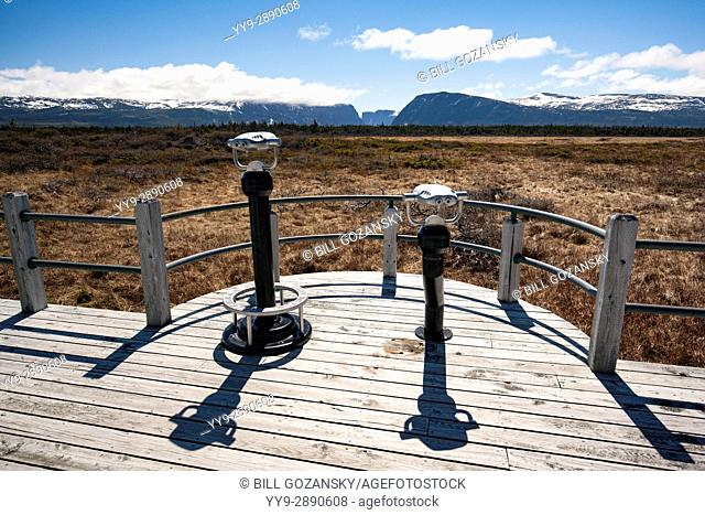 Lookout on Trail to Western Brook Pond, Gros Morne National Park, Newfoundland, Canada