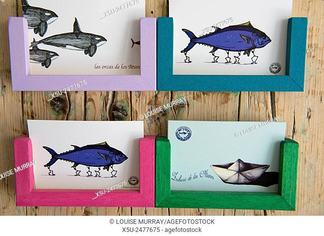 In the small village of Zahara de los Atunes, home to one of the Almadraba Atlantic Bluefin Tuna traps tuna imagery, art, signage and references are everywhere