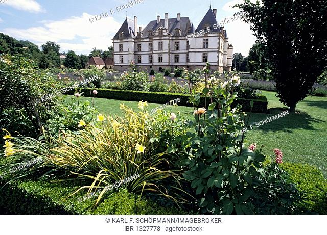 Château de Cormatin, palace and gardens, Burgundy, Saône et Loire, France, Europe