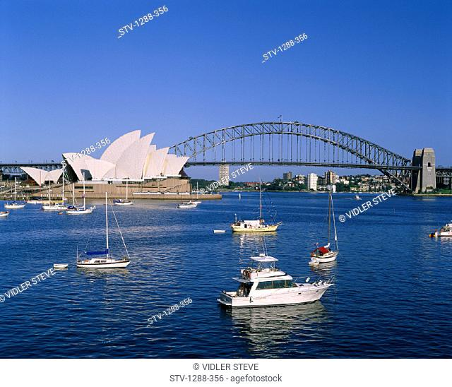 Arts, Australia, Boats, Bridge, Entertainment, Harbor, Harbour, Holiday, House, Landmark, Opera, Skyline, Sydney, Tourism, Trave