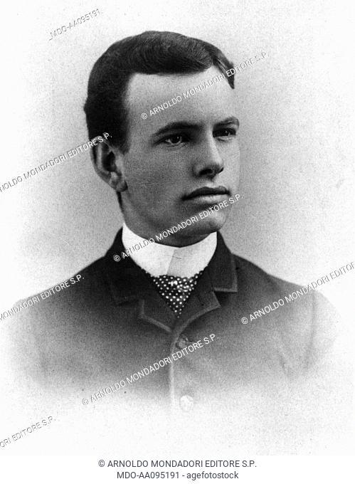 Portrait of George Ellery Hale. Youthful portrait of the American astronomer George Ellery Hale. 1880s
