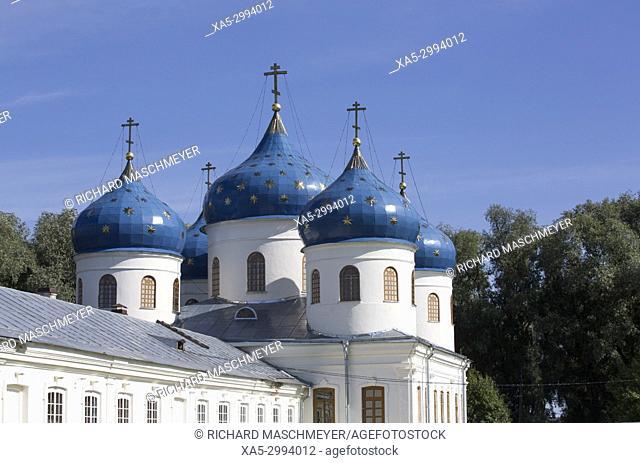 Cross Exaltation Cathedral, Yuriev Monastery, UNESCO World Heritage Site, Veliky Novgorod, Novgorod Oblast, Russia