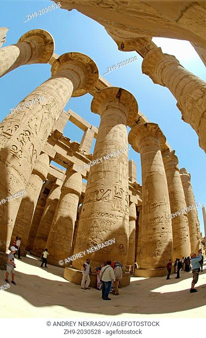 Karnak Temple Complex, Luxor (Thebes), Egypt, Africa.	1015