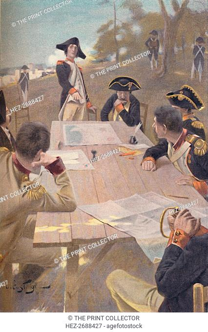 'Bonaparte Explaining His Plan for the Taking of Toulon, 1793', (1896). Artist: Unknown