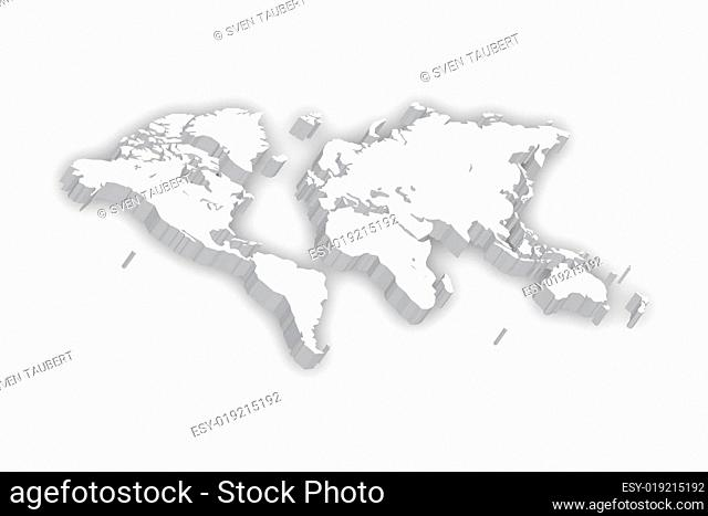 World Map in 3D