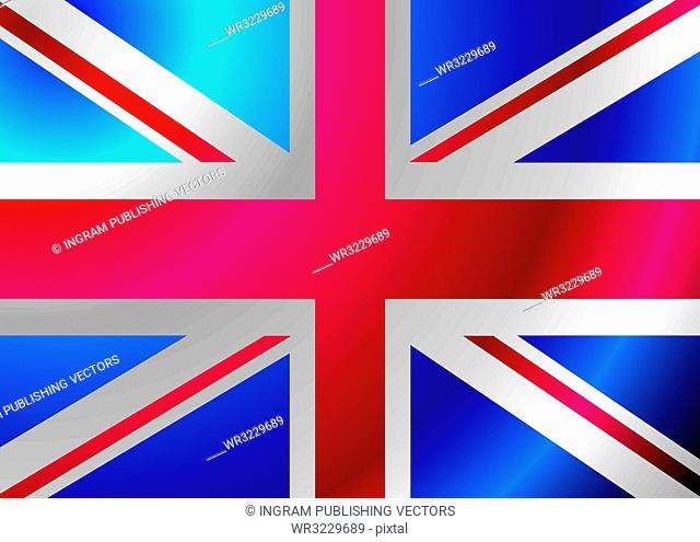British flag blowing in the wind ideal background