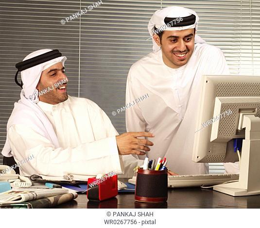 Business men in office