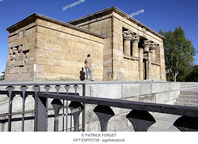EGYPTIAN TEMPLE TO DEBOD GIVEN TO THE CITY BY EGYPT, PARQUE DE LA MONTANA, MADRID, SPAIN
