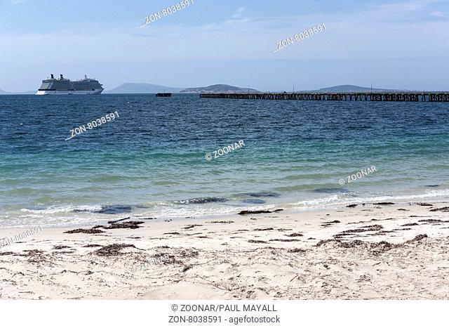 Celebrity Cruise Ship Solstice at anchor, Esperance Western Australia