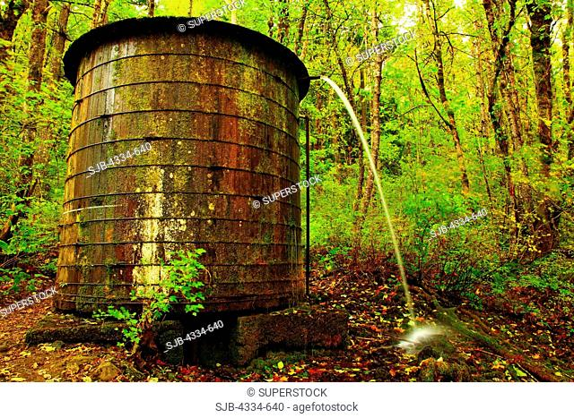 Water tank on the Elowah Falls trail
