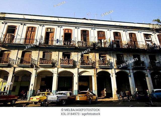 Traditional building in La Havana. Cuba