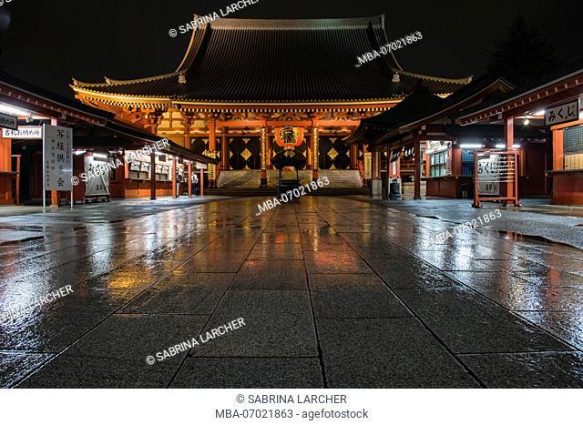 Asia, Japan, Nihon, Nippon, Tokyo, Taito, Asakusa, Sens?-ji Temple at night