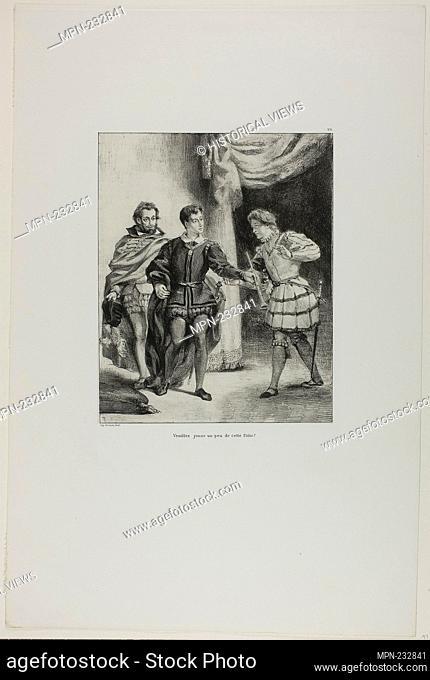 Hamlet and Guildenstern, plate 6 from Hamlet - 1835–43 - Eugène Delacroix French, 1798-1863 - Artist: Eugène Delacroix, Origin: France, Date: 1835–1843