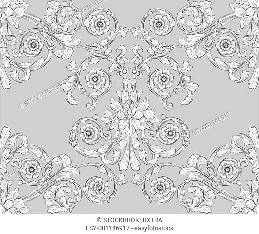 seamless tiling floral wallpaper pattern