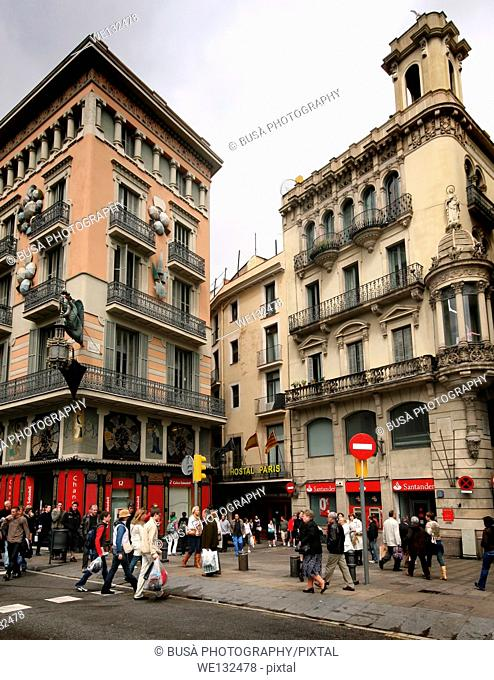 Modernist Architectures of the Ramblas, in Barcelona